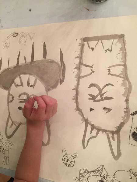 Katzen in Tusche