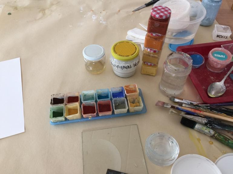 Pigmente griffbereit